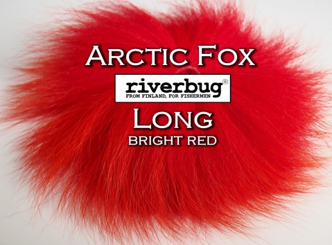 RiverBug / Beggar Fox materials. Color Bright Red. Good for any kind of salmon and trout flies. #putkiperho #tubefly #tubfluga #flytying #finn #finnlures #finland #riverbug #ketunkarva #foxfur #hotfoxfur