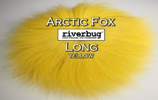 RiverBug / Beggar Fox materials. Color Yellow. Good for any kind of salmon and trout flies. #putkiperho #tubefly #tubfluga #flytying #finn #finnlures #finland #riverbug #ketunkarva #foxfur #hotfoxfur #yellow