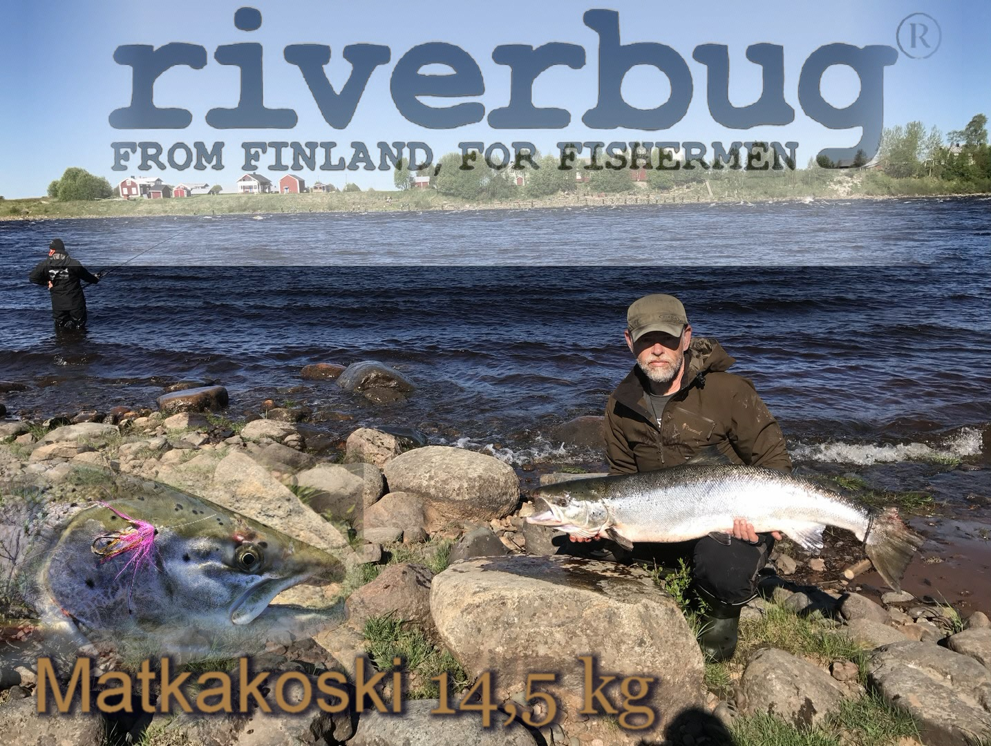 Salmon caught with RiverBug Tube Fly - Matkakoski, Finland