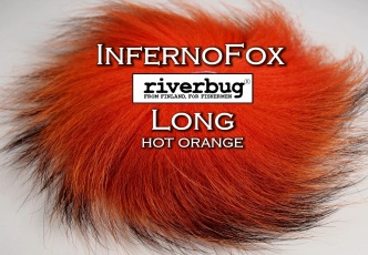 RiverBug / Beggar Fox materials. Color Hot Orange. Good for any kind of salmon and trout flies. #putkiperho #tubefly #tubfluga #flytying #finn #finnlures #finland #riverbug #ketunkarva #foxfur #hotfoxfur #hotorange