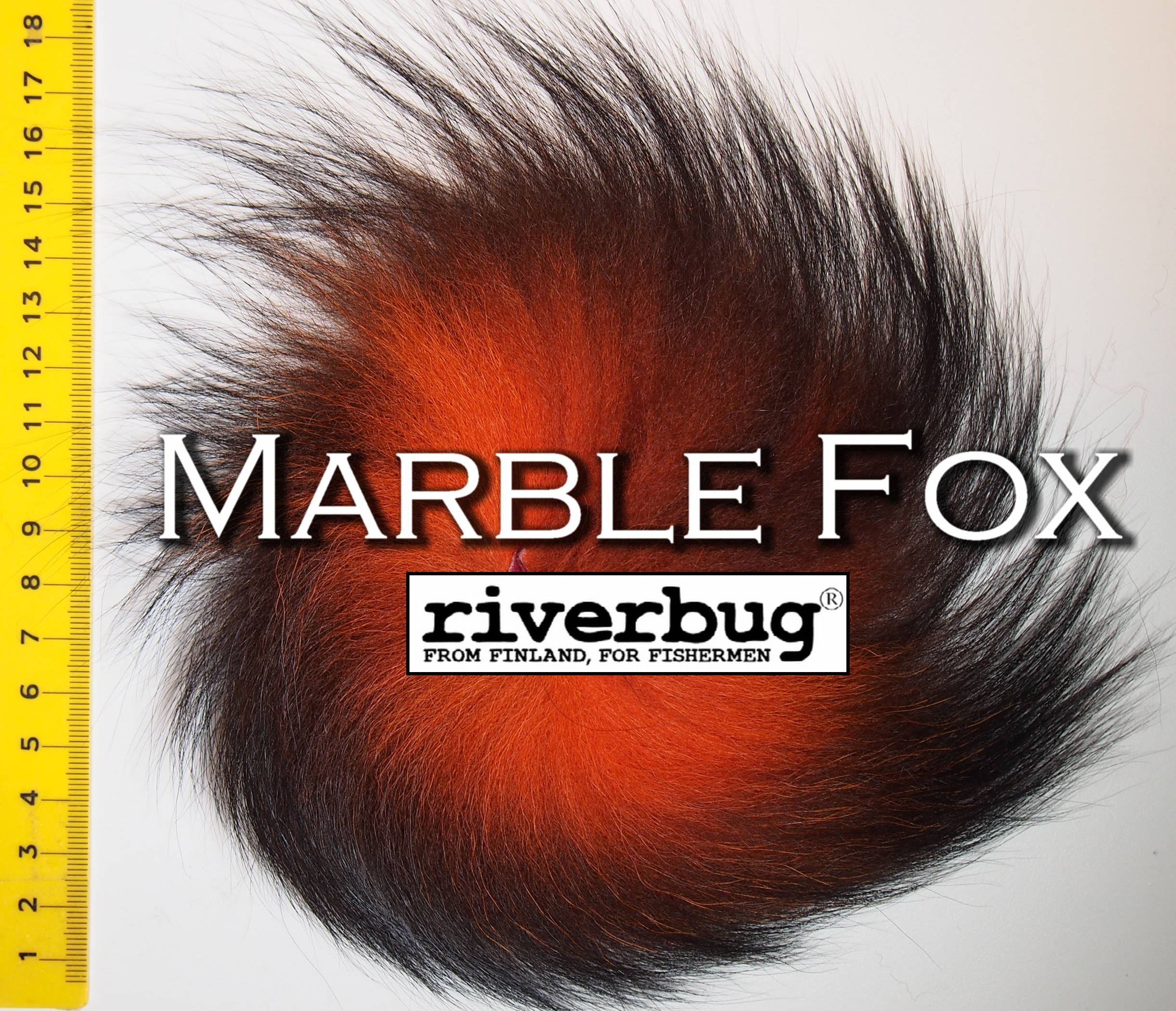 Marble Fox fur for Fly Tying