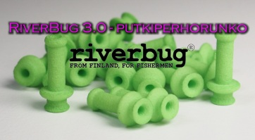 RiverBug 3.0 tube fly body - Lime Green