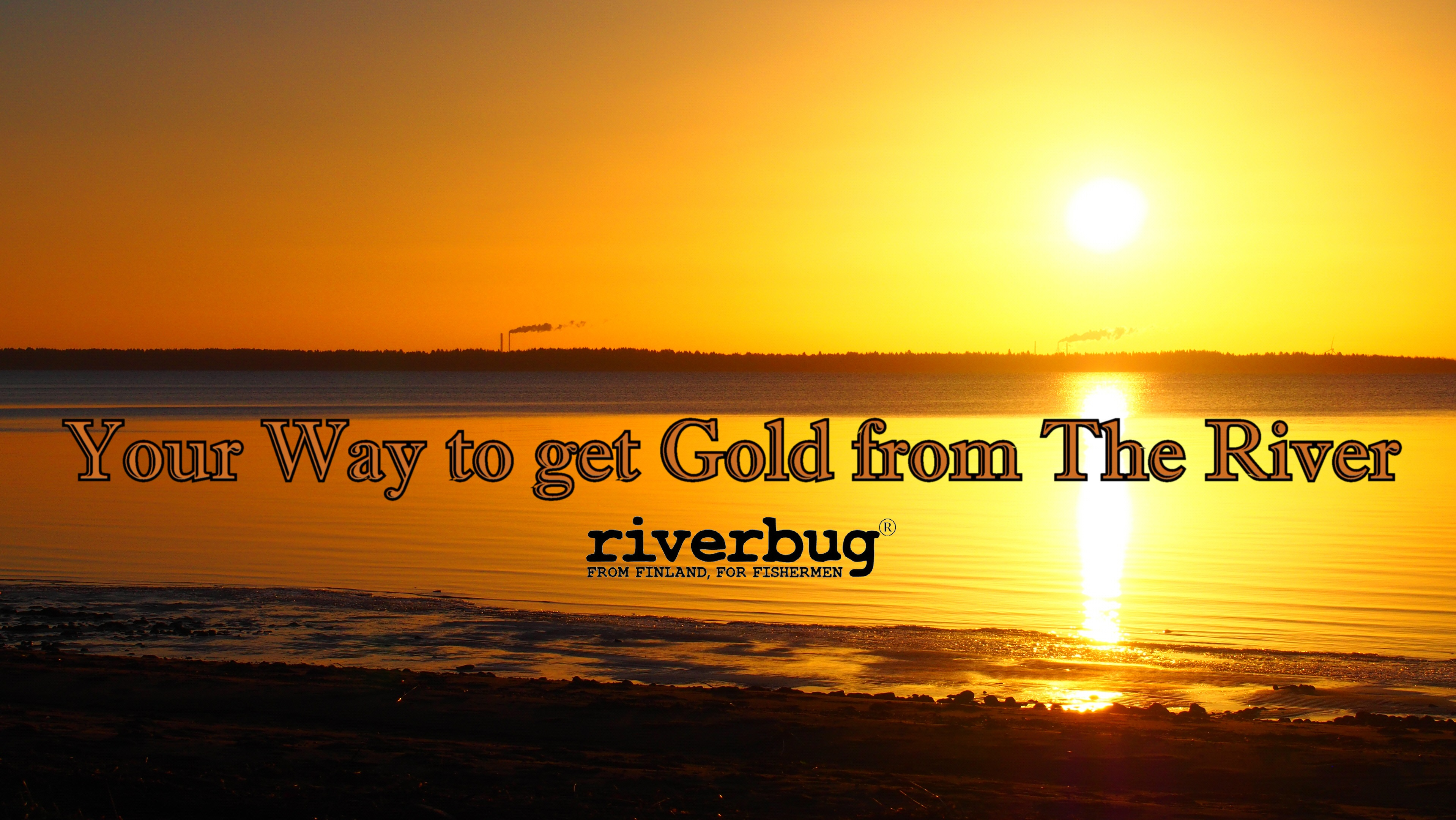 RiverBug Fly Tying and Golden scenery in City of Oulu, Finland