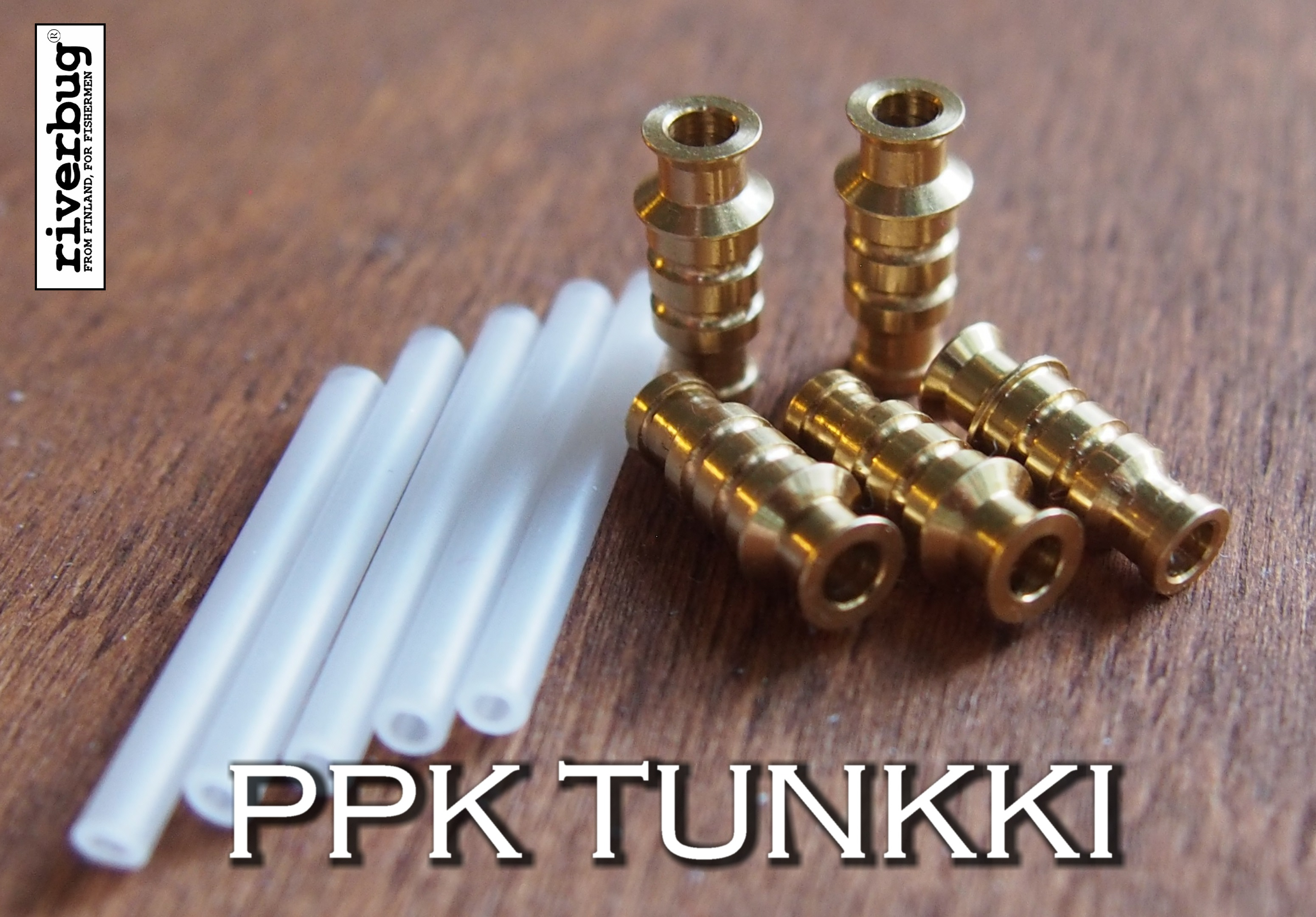 "Tungsten ""Tunkki"" RiverBug heavy brass body tube. Painava Putkiperhorunko."