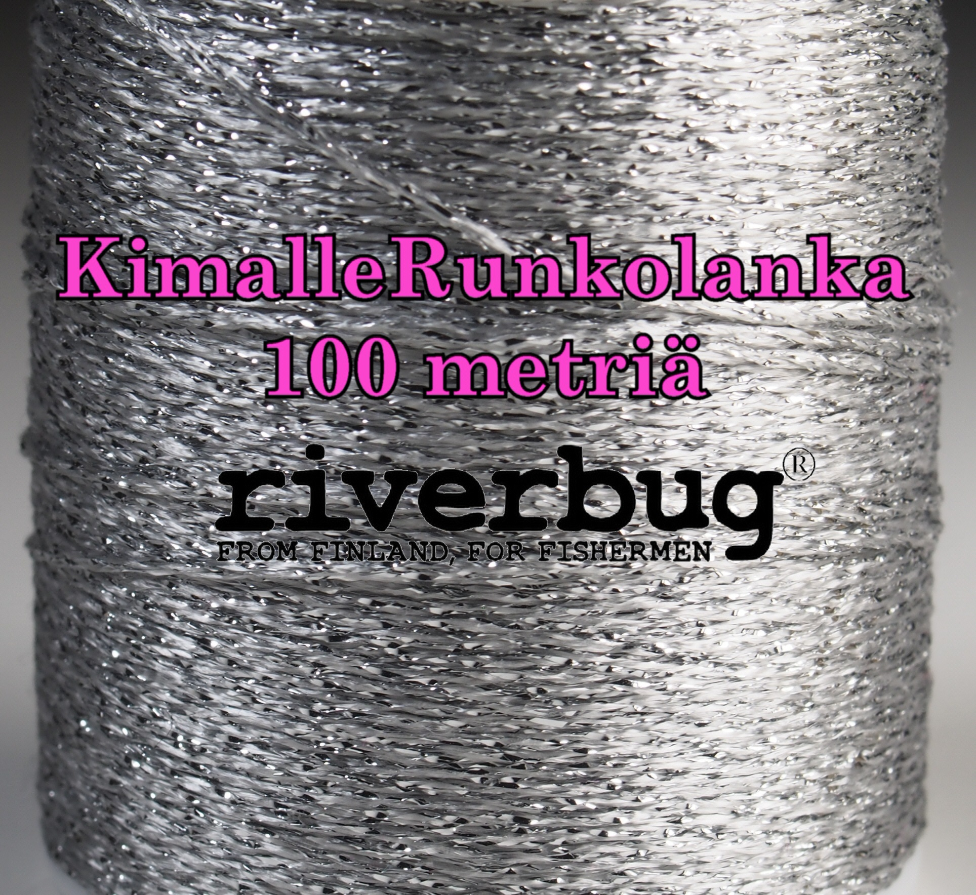 RiverBug Body Yarn from Tube Flies - Silver