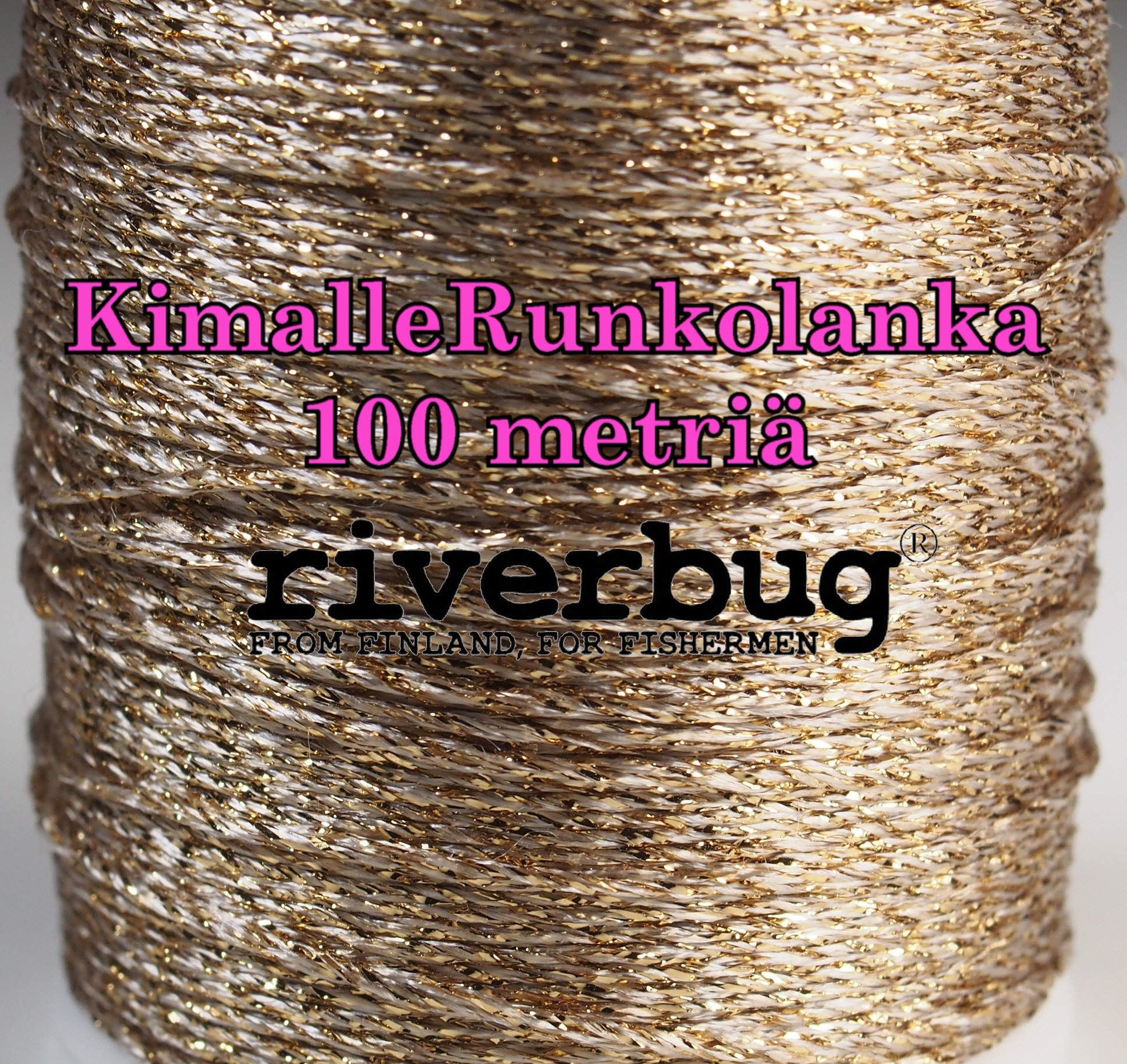 RiverBug Body Yarn from Tube Flies - Gold