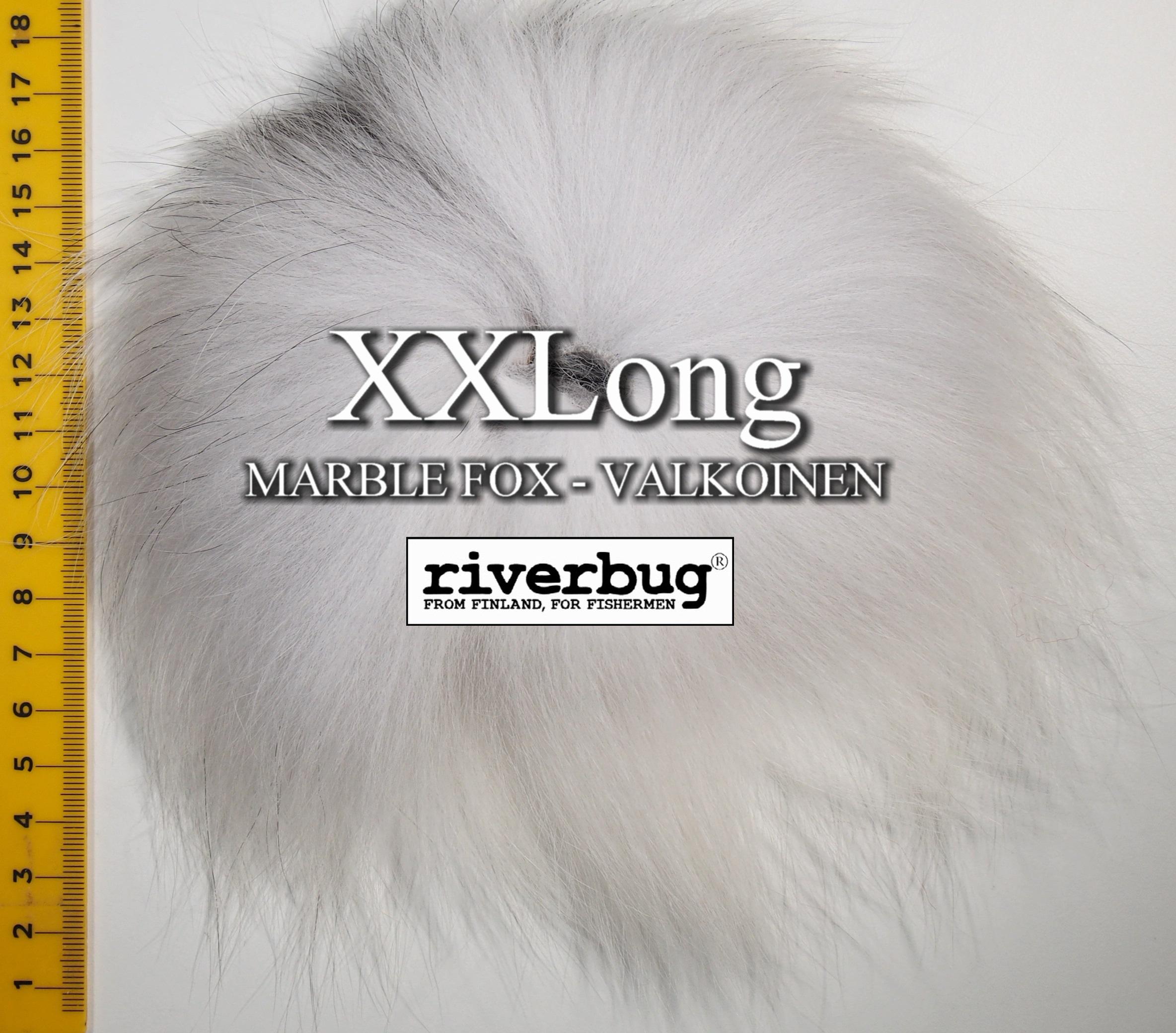 Ketunkarvat - XXLong - Valkoinen. Made by Beggar / RiverBug. #ketunkarvat #ketunkarva #putkiperhot #perhonsidonta #fox #räv #flytying #valkoinen