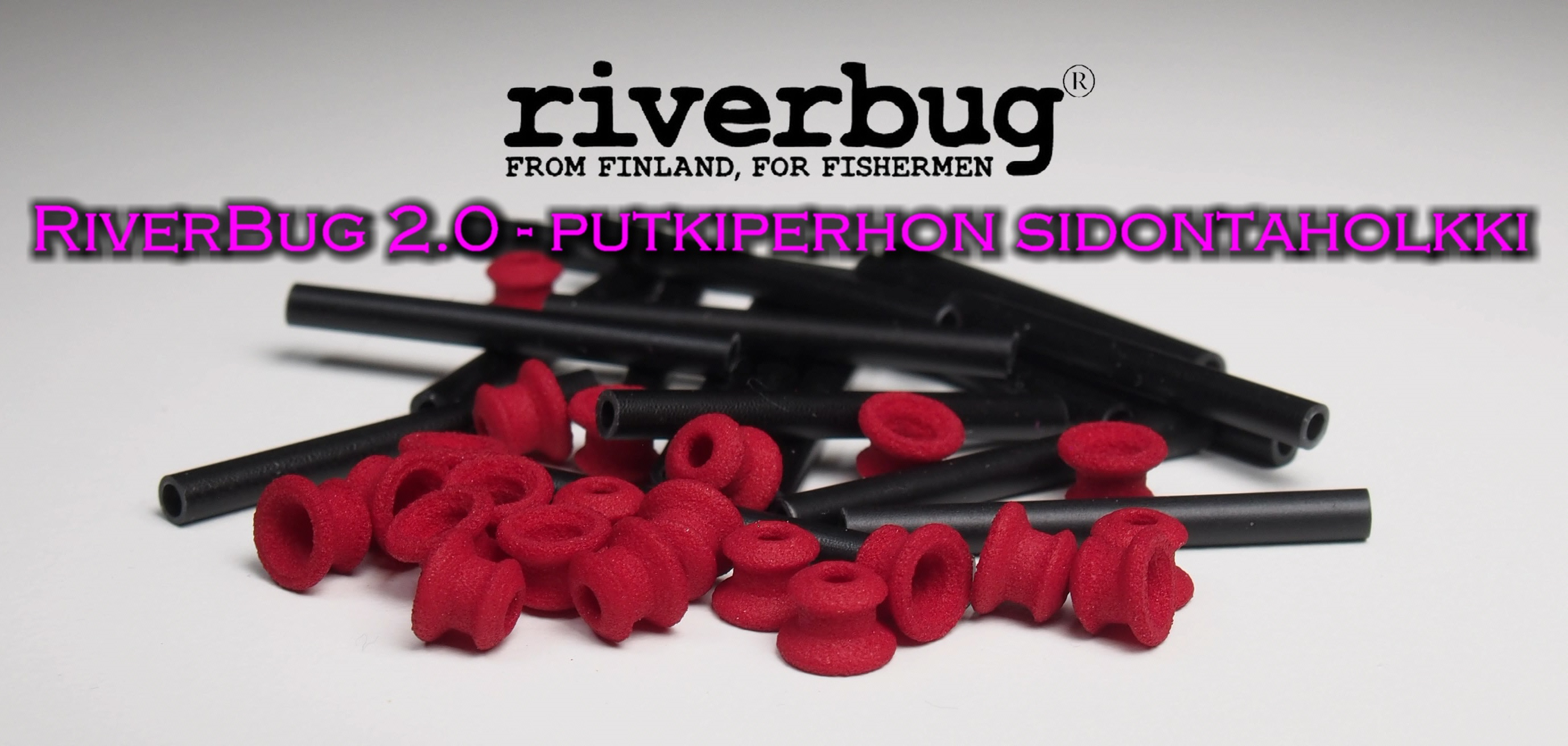 Tube Fly sleeve RiverBug 2.0 - Red. RiverBug 2.0 Putkiperho - Holkki.