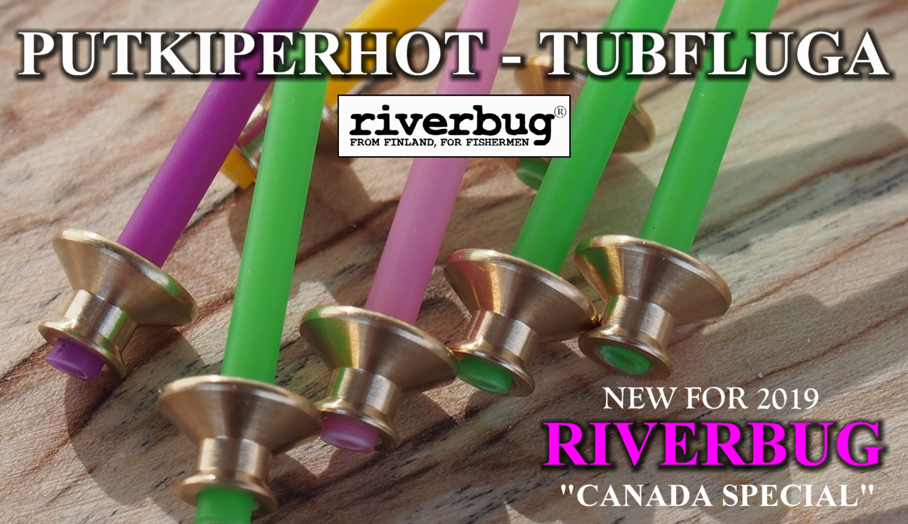 Putkiperhot - New RiverBug tube fly sleeves for season 2019
