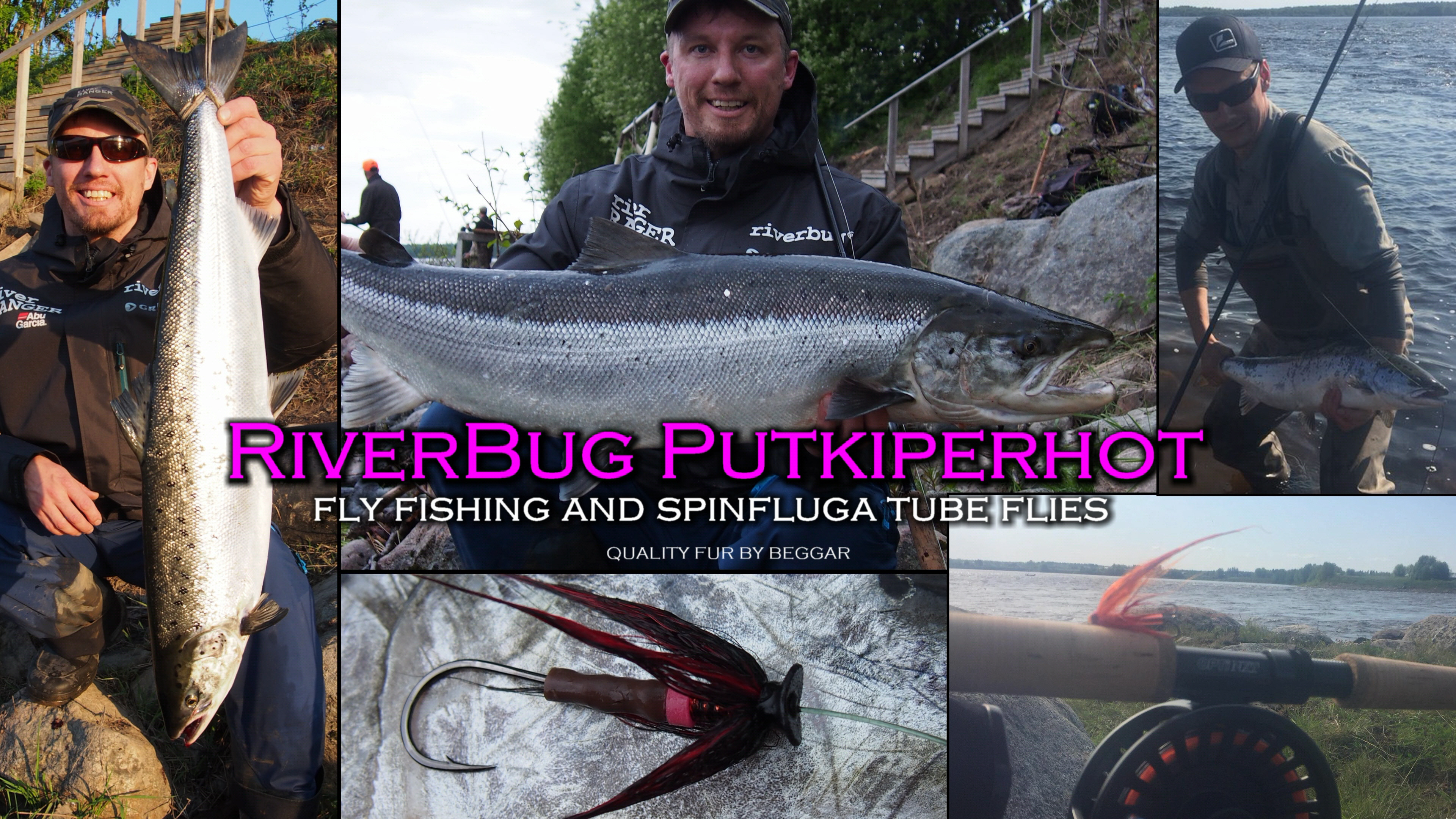 RiverBug tube flies can be used with Fly Fishing gear or with Spinfly (spinfluga) style equipments. #putkiperhot #putkiperho #perhonsidonta #lohi #lax #salmon #lohenkalastus #riverbug #spinfly #spinfluga