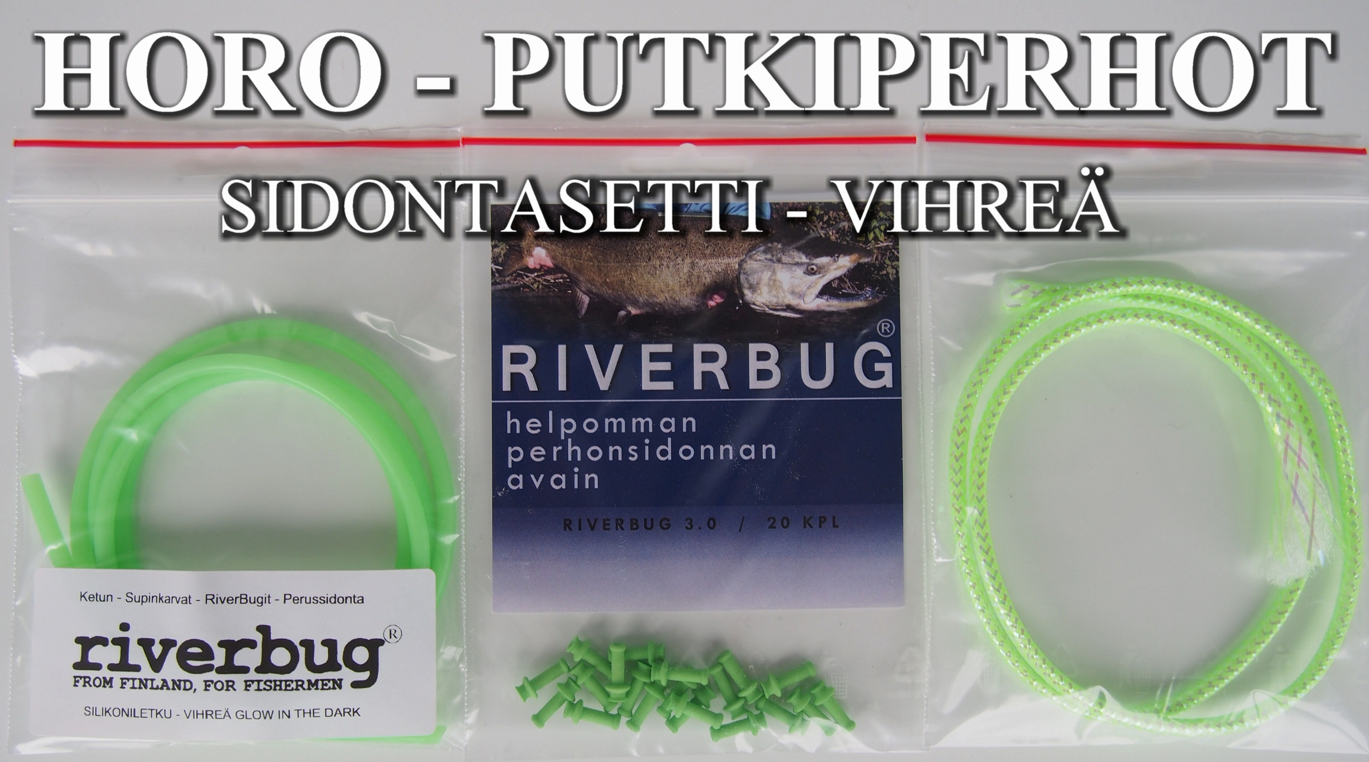 HORO - PUTKIPERHOT can be done easy in RiverBug Tube Fly system. Easy glow in the dark and effective tube flies in just few minutes! #perhonsidonta #riverbug #mylar #mylartube #putkiperhot #perho #lohi #lohiperho #rivertube #riverbugperho
