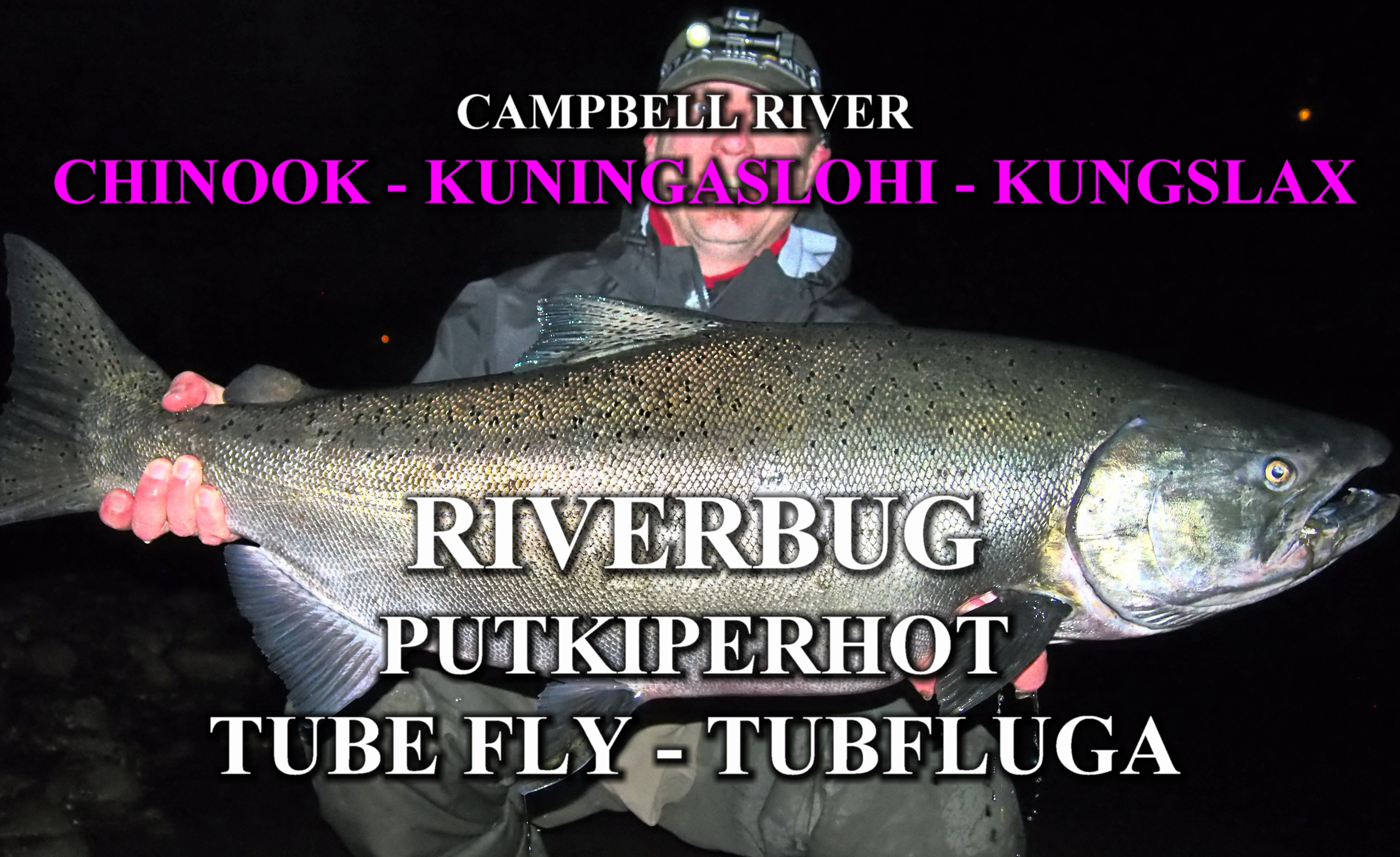 Spinfluga King Salmon ( KUNINGASLOHI ) with RiverBug tube fly from Campbell River (CAN). #kingsalmon #kuningaslohi #lohi #canada #putkiperhot #streamer #kalastus #fishing #kala #perhokauppa #riverbug #gobig #campbellriver #fishingguide #kalastusopas #proguide #fishingguidefinland #spinfluga