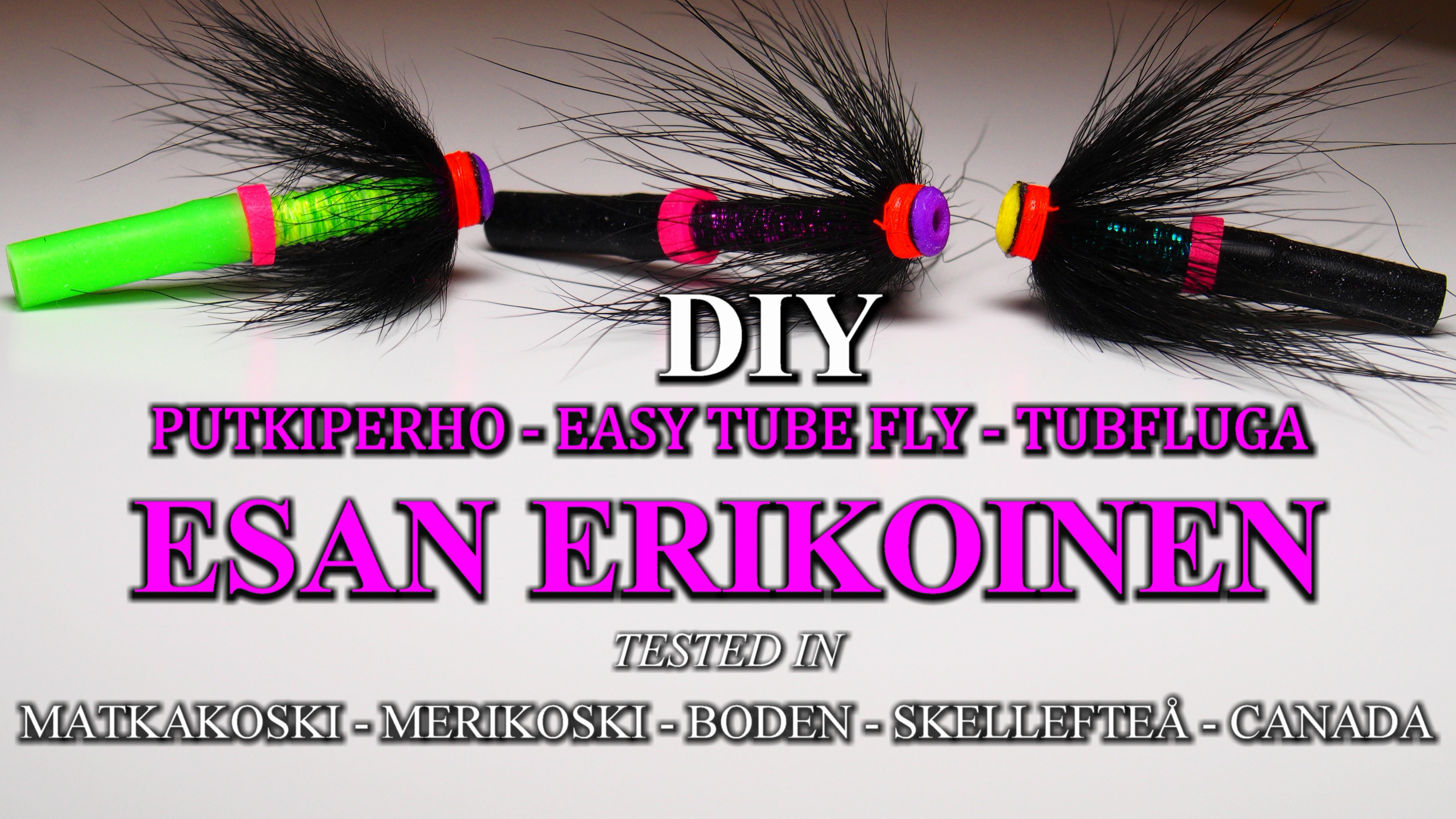 Esan Erikoinen Tube Fly - Putkiperhot - Tubfluga. This RiverBug 2.0 tube fly is super easy to make and highly good for salmon and trout! #tubfluga #tubefly #putkiperhot #finnlures #kettuperho #riverbug #matkakoski #DIY